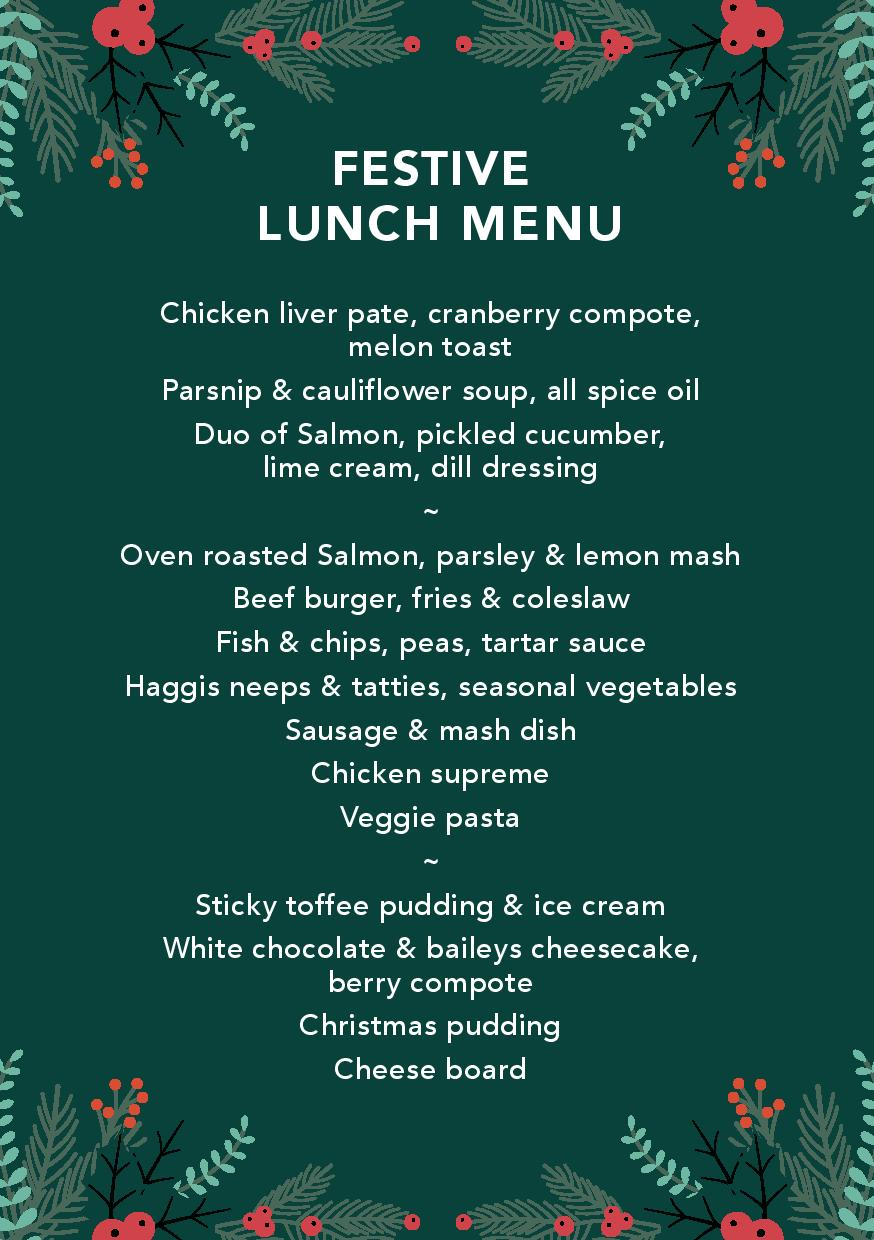 FESTIVE LUNCH MENU