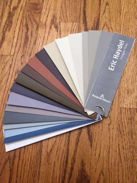 Eric worked with Benjamin Moore to select paint colors that complement his collection.