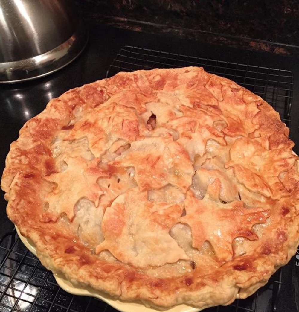 Apple Pie With Leaf Pie Crust - This recipe can be found on the blog under recipes.