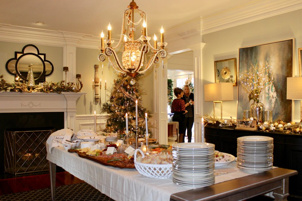 Dining room holiday brunch