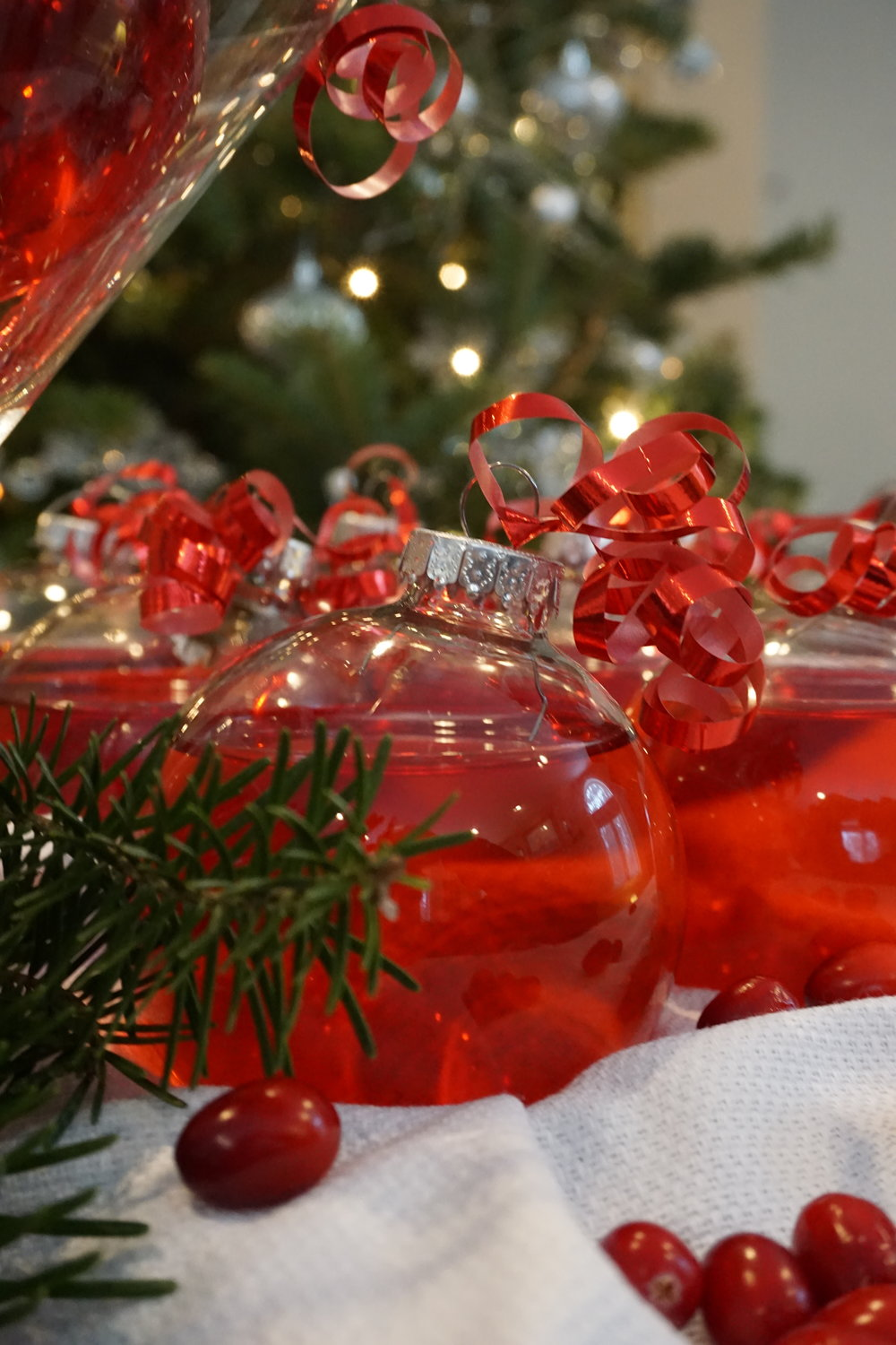 Christmas ornaments for martinis or cocktails