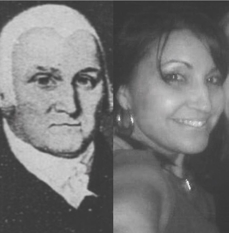 An older version of Dr. Elisha Story, vs the opening photo and moi!  Now i understand where my profile came from!  DNA is amazing.