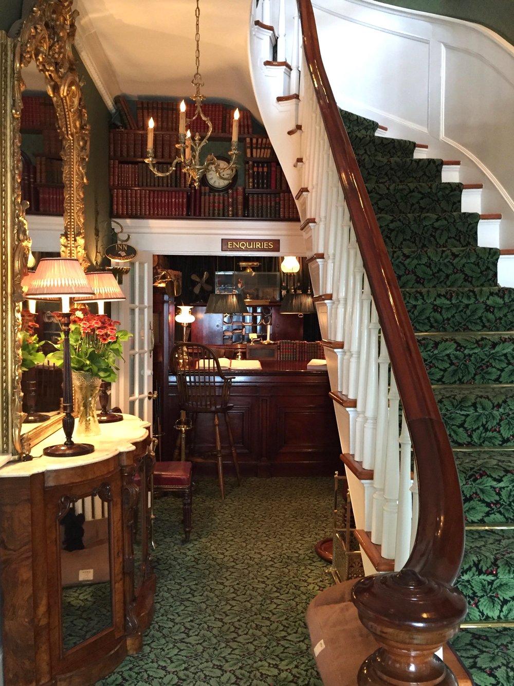 Foyer in  the Charlotte Inn  - Martha's Vineyard - Photo by Linda Smith Davis - New England Fine Living