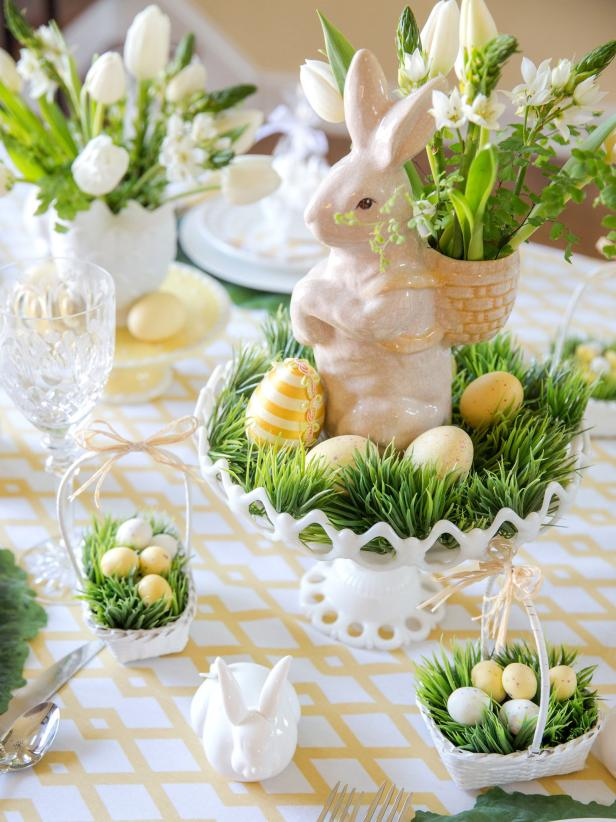 yellow and green easter table setting .jpg