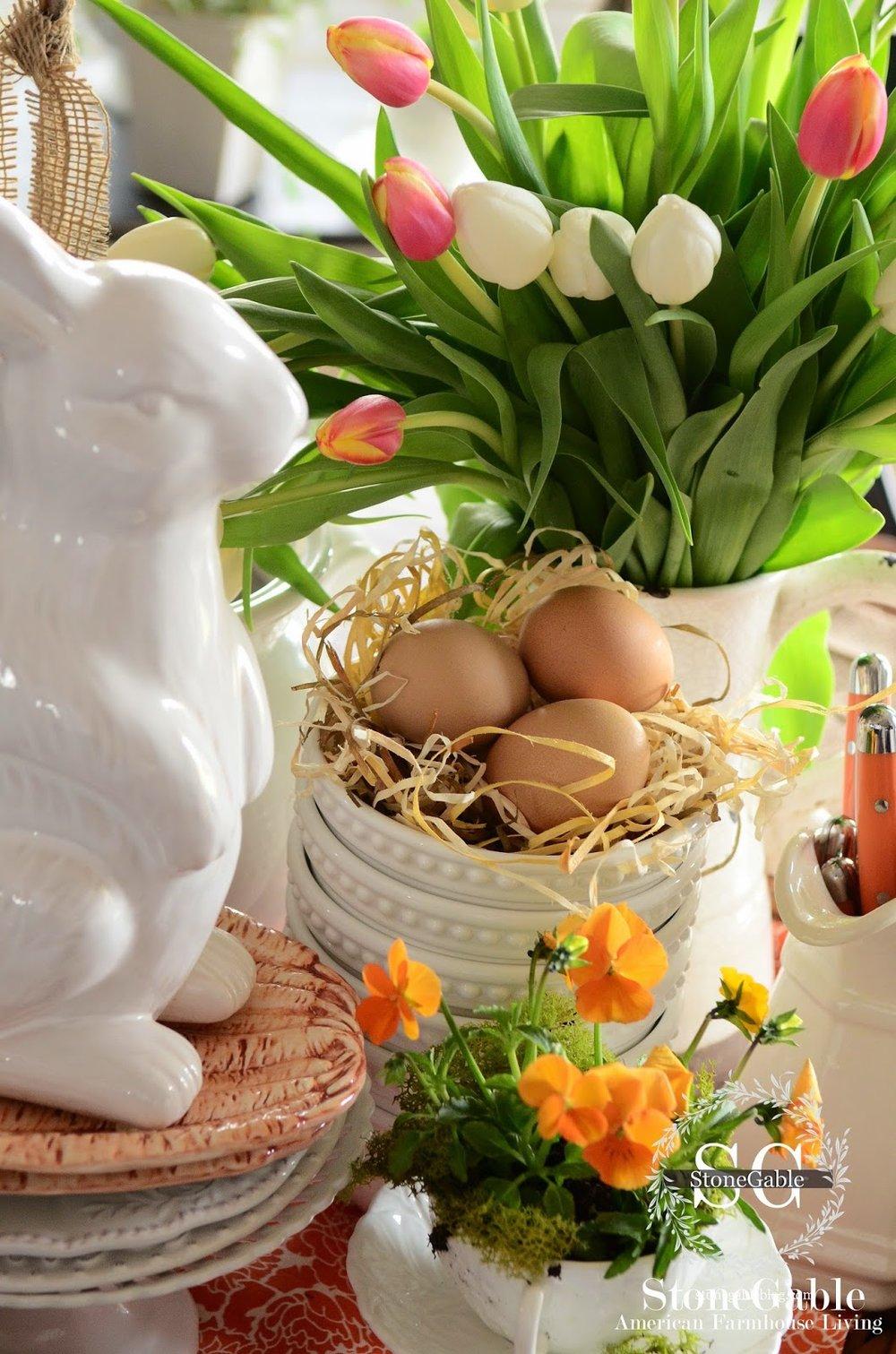 Spring-Kitchen-Vignette-bunny-stonegableblog