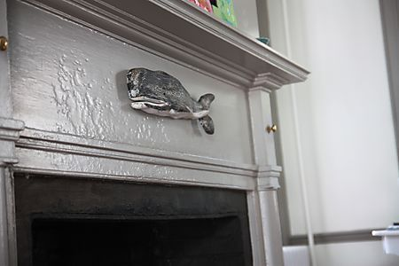 whale on fireplace mantel in home decor .jpg