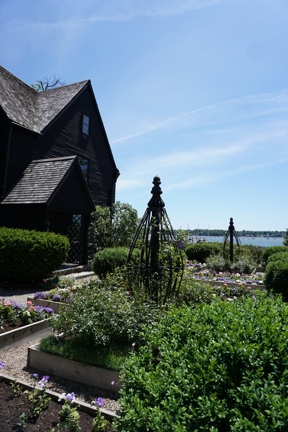 Photo of the gardens at The House of Seven Gable by Linda Smith Davis