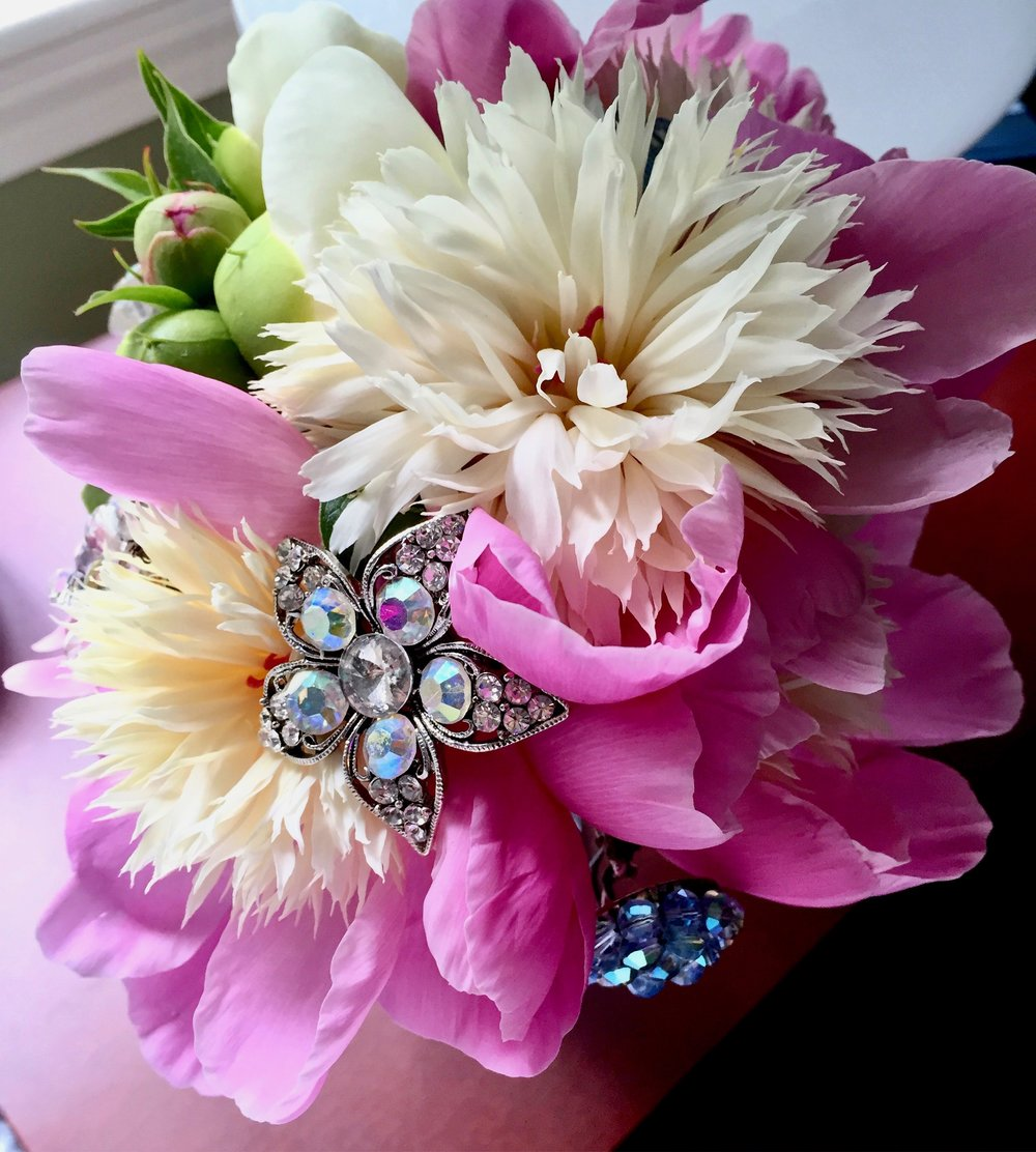 Peony floral wedding bouque with jewels.jpg