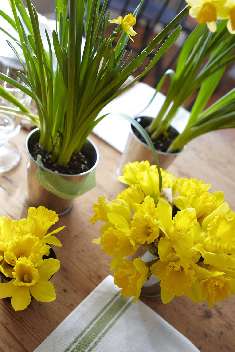 Farmhouse Brunch with daffodils