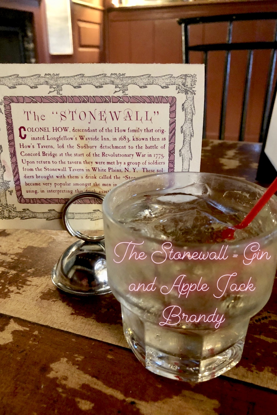 Stonewall Cocktail gin and apple jack brandy