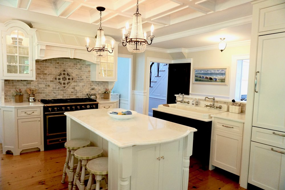An elegant kitchen remodel in an 1829 Sea Captain's home. - Photo by Linda Smith Davis