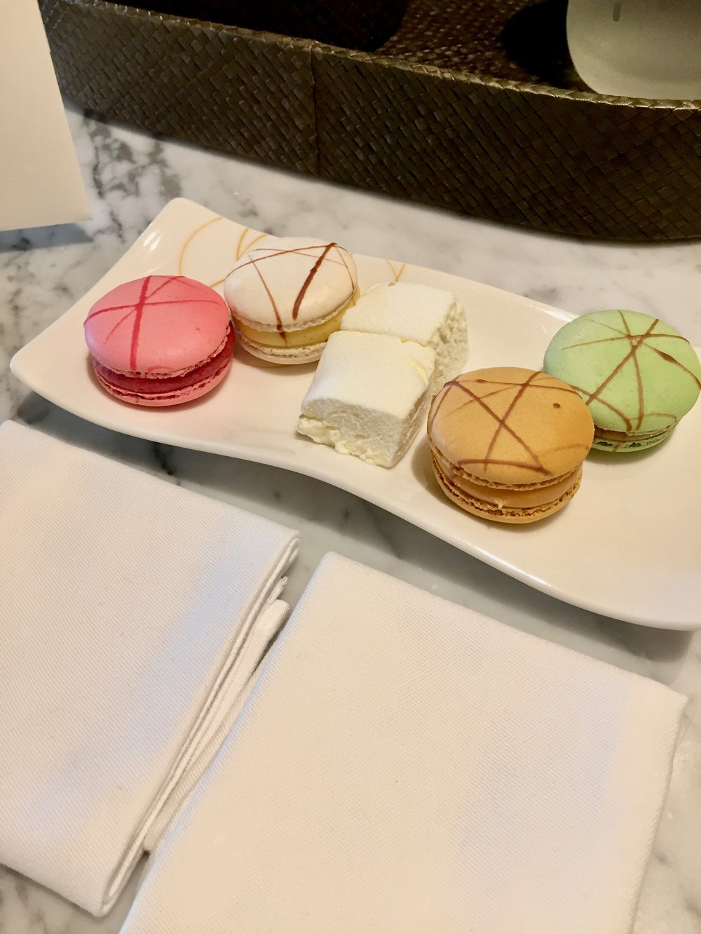 macarons and marshmallows
