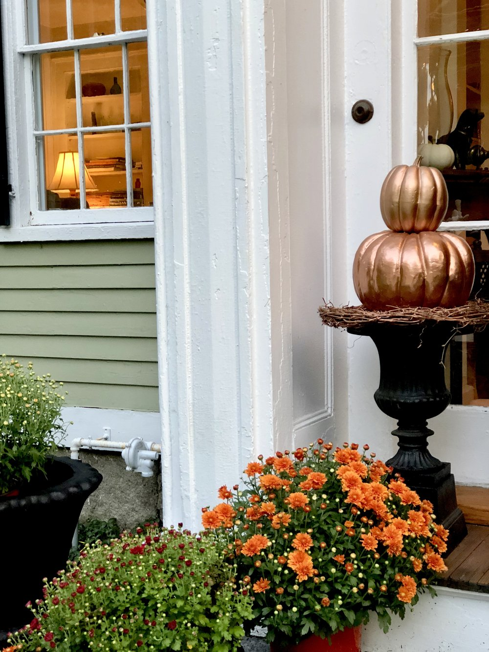 New England fall decorations