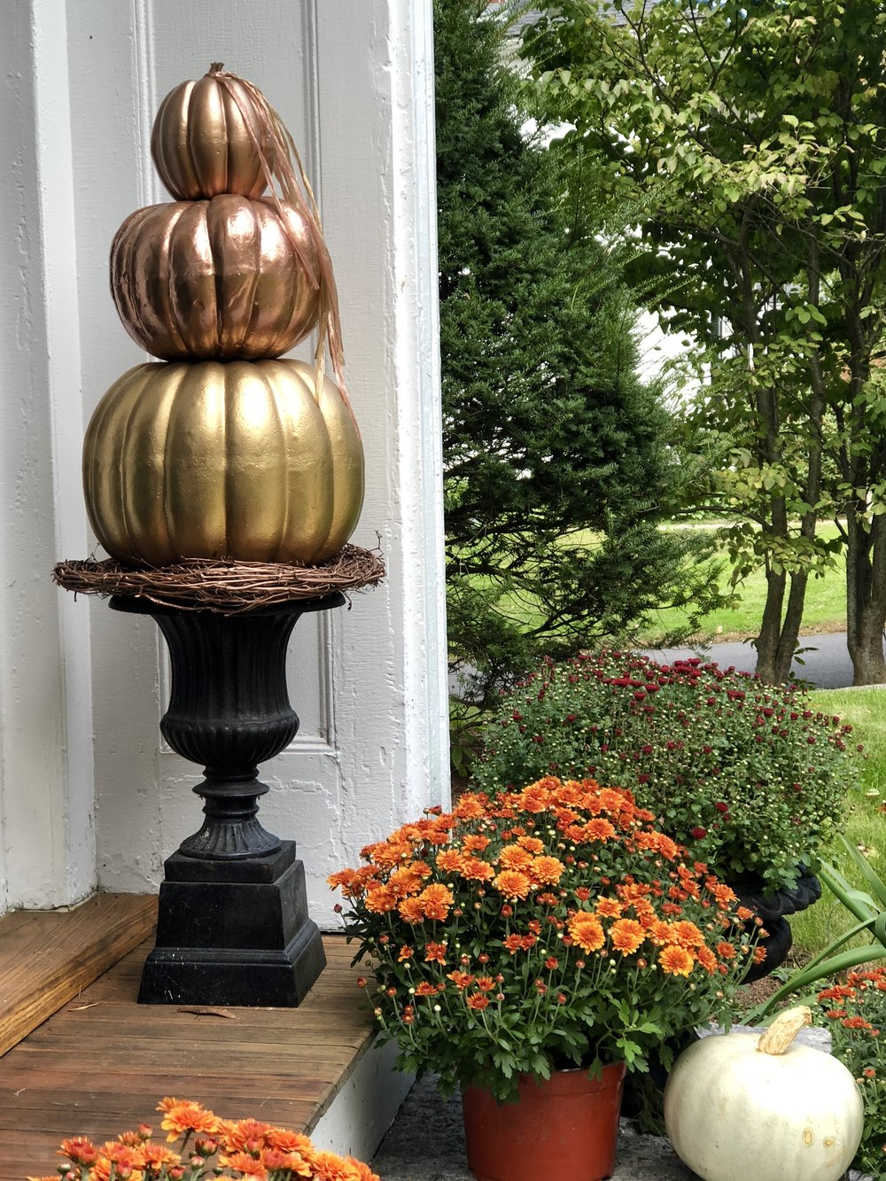 New England Fall entryway