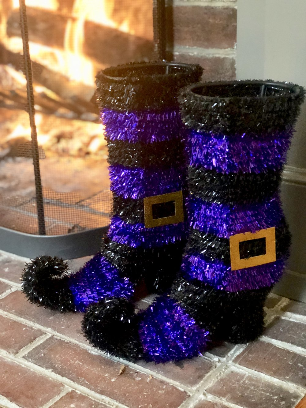 Michaels craft store witches boots for halloween