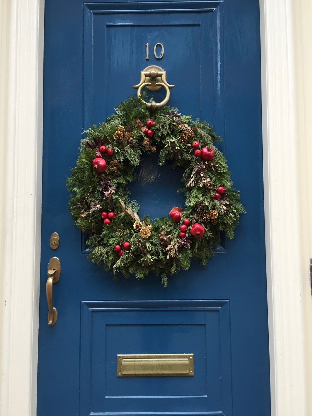 Blue Door Christmas wreath Beacon Hill New England Living.jpg