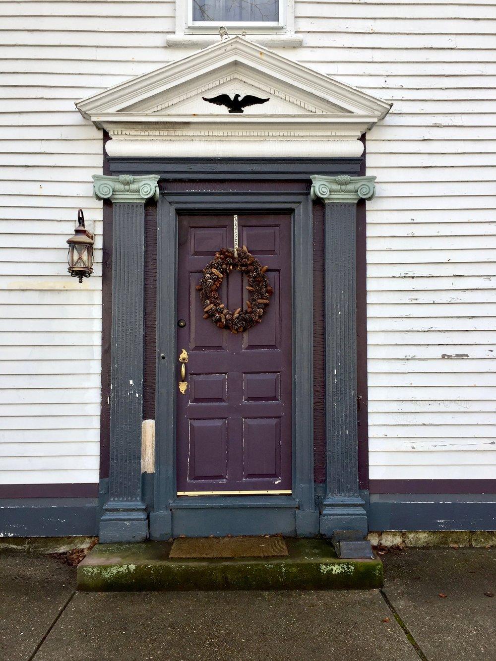 Winter in Wickford Rhode Island Front door