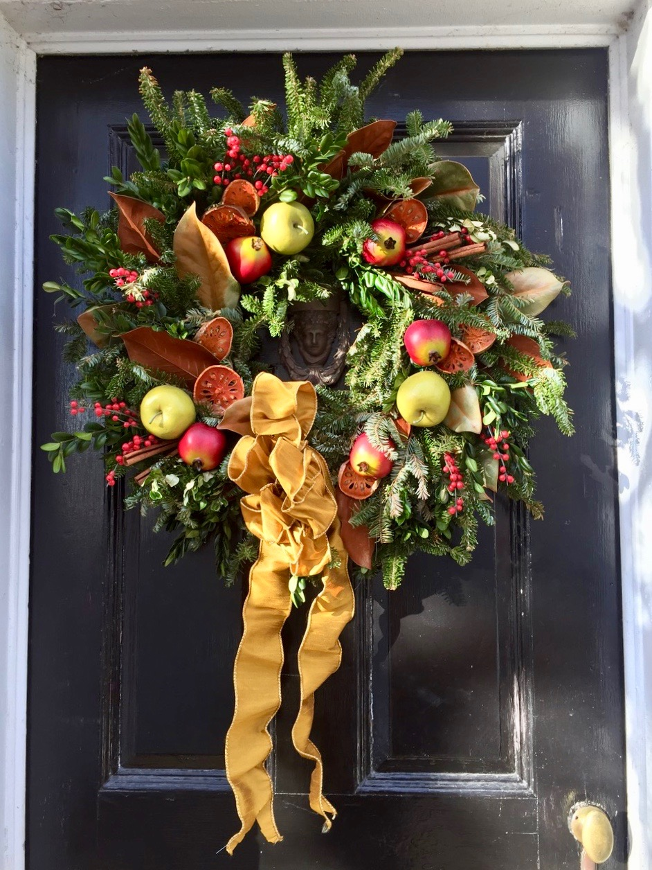 Fruit wreath Wickford Rhode Island Christmas in New England