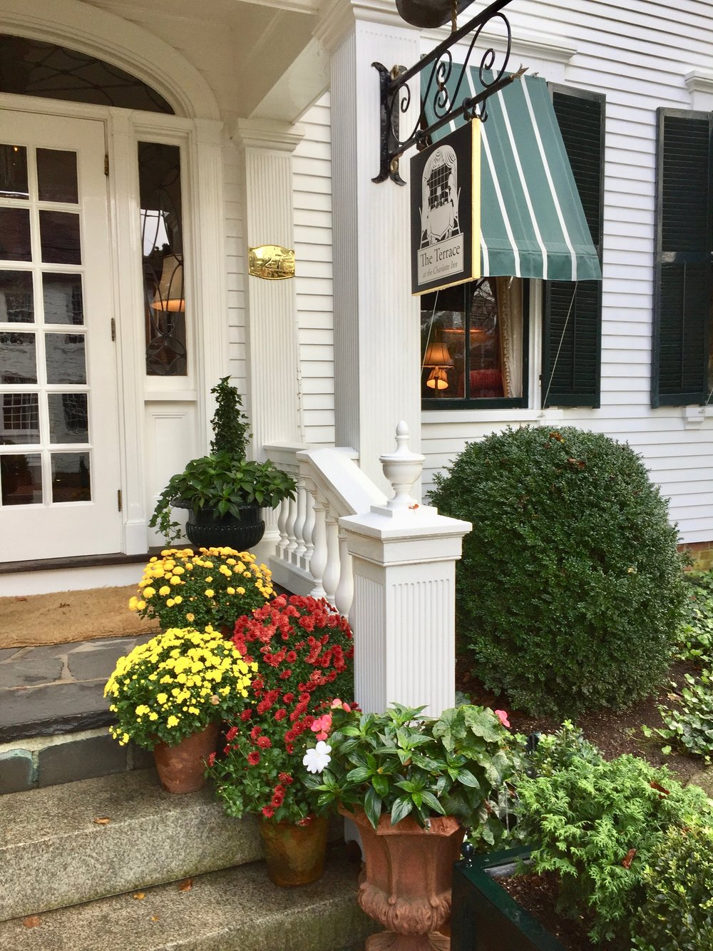 Charlotte Inn entrance New England Fine Living