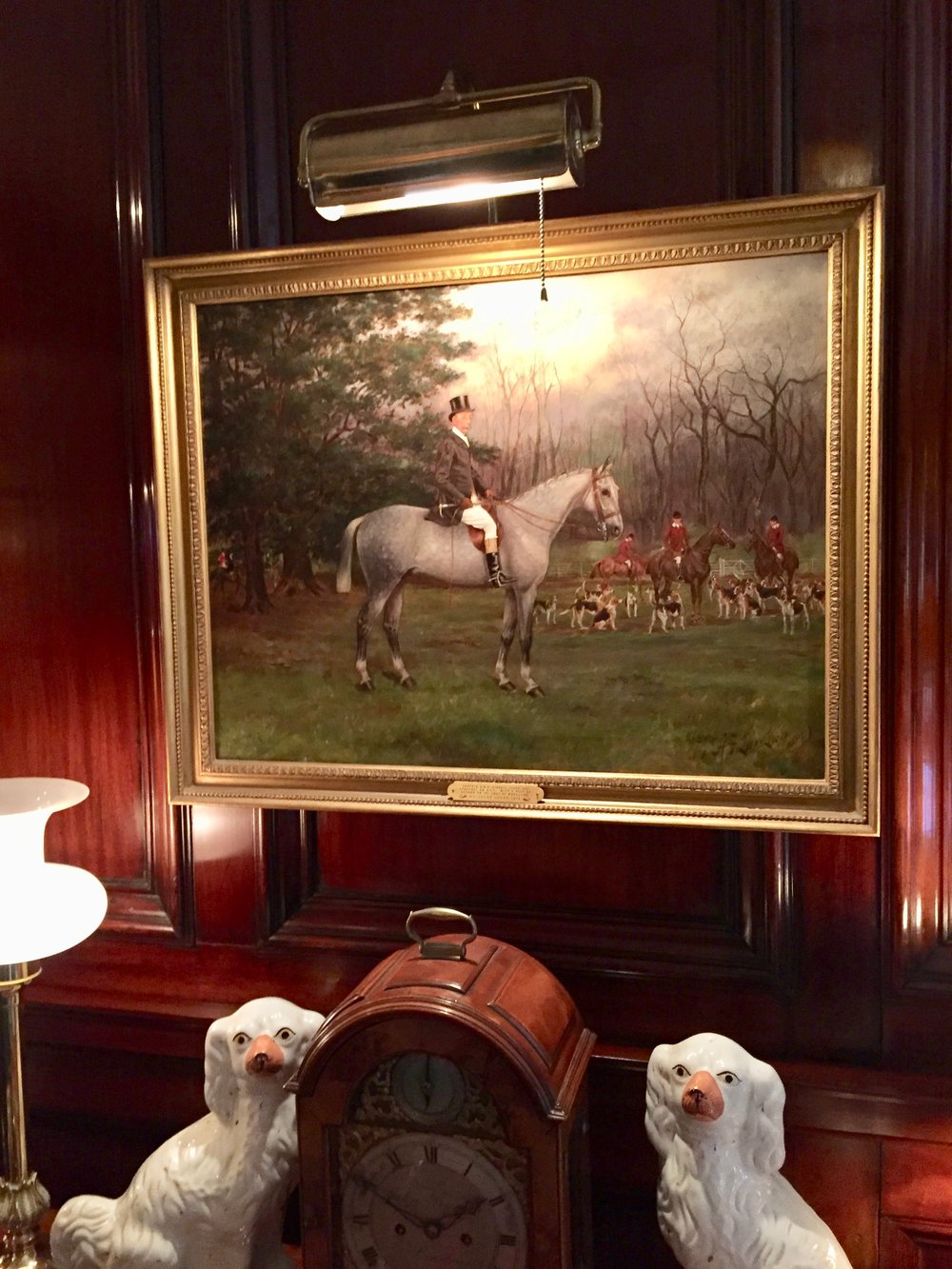 Equestrian paintings at the Charlotte Inn New England Fine Living