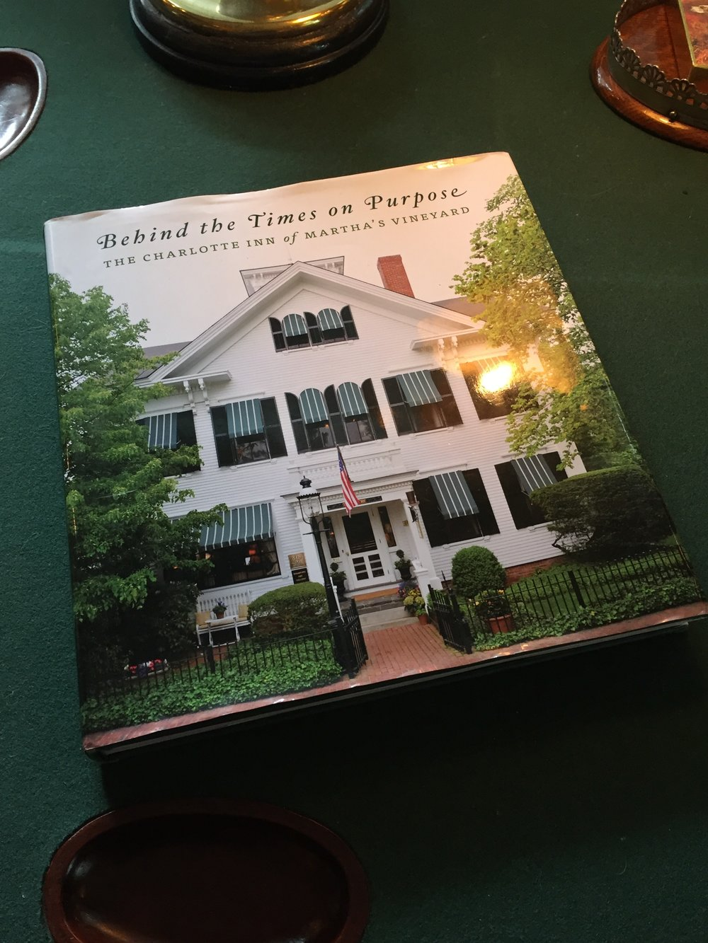 Charlotte Inn's book Behind the Times on Purpose