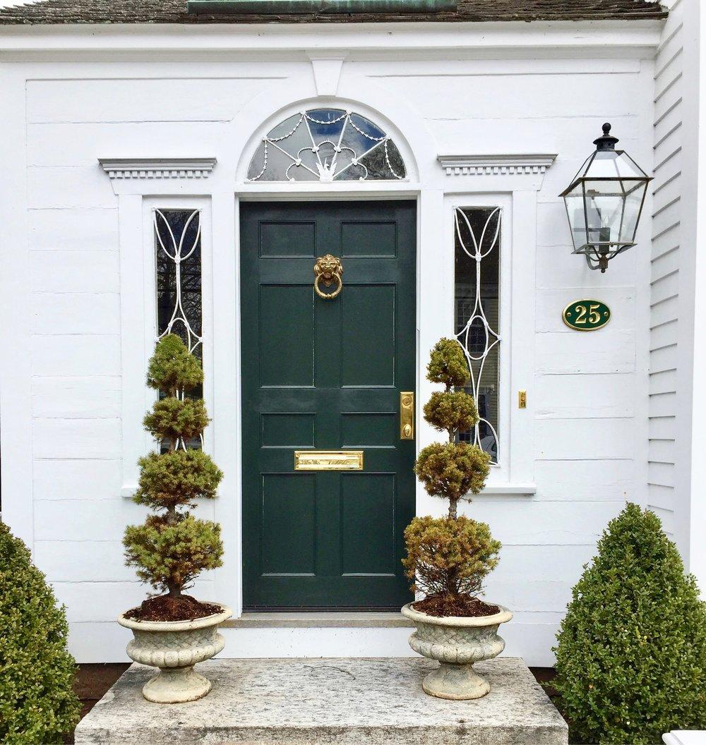 green front door with fan light Essex CT.jpg