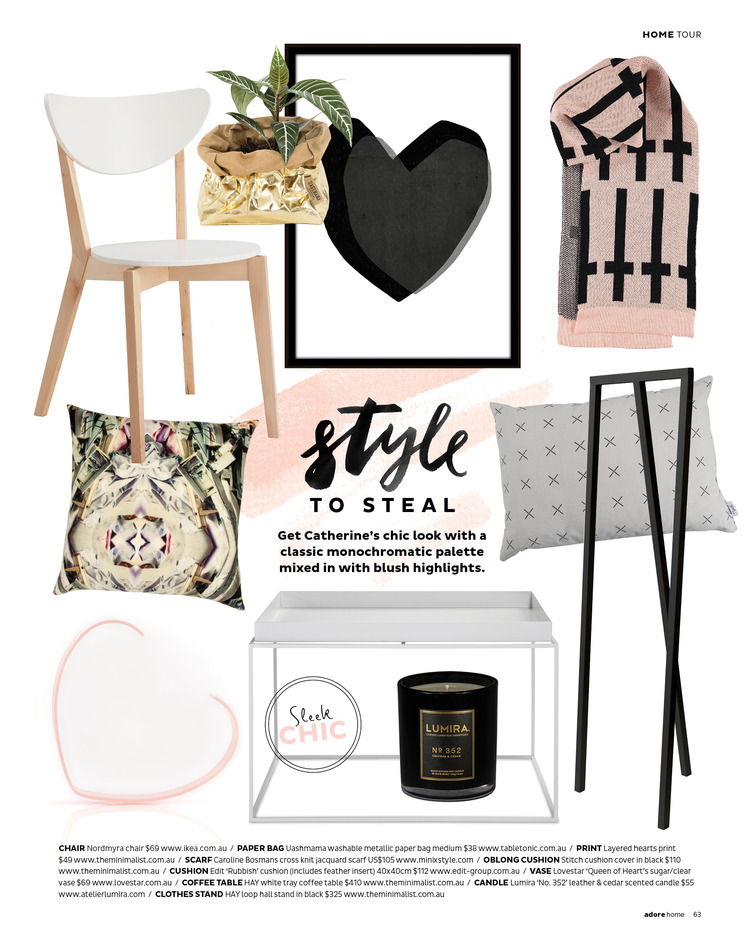 Miss Poppy Design: Get Catherines look as featured on Adore Home Magazine