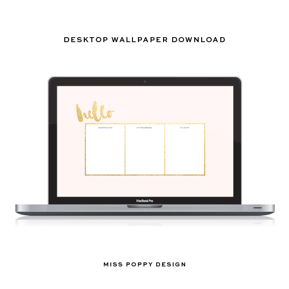FREE tech wallpaper / iPhone / Desktop / Miss Poppy Design