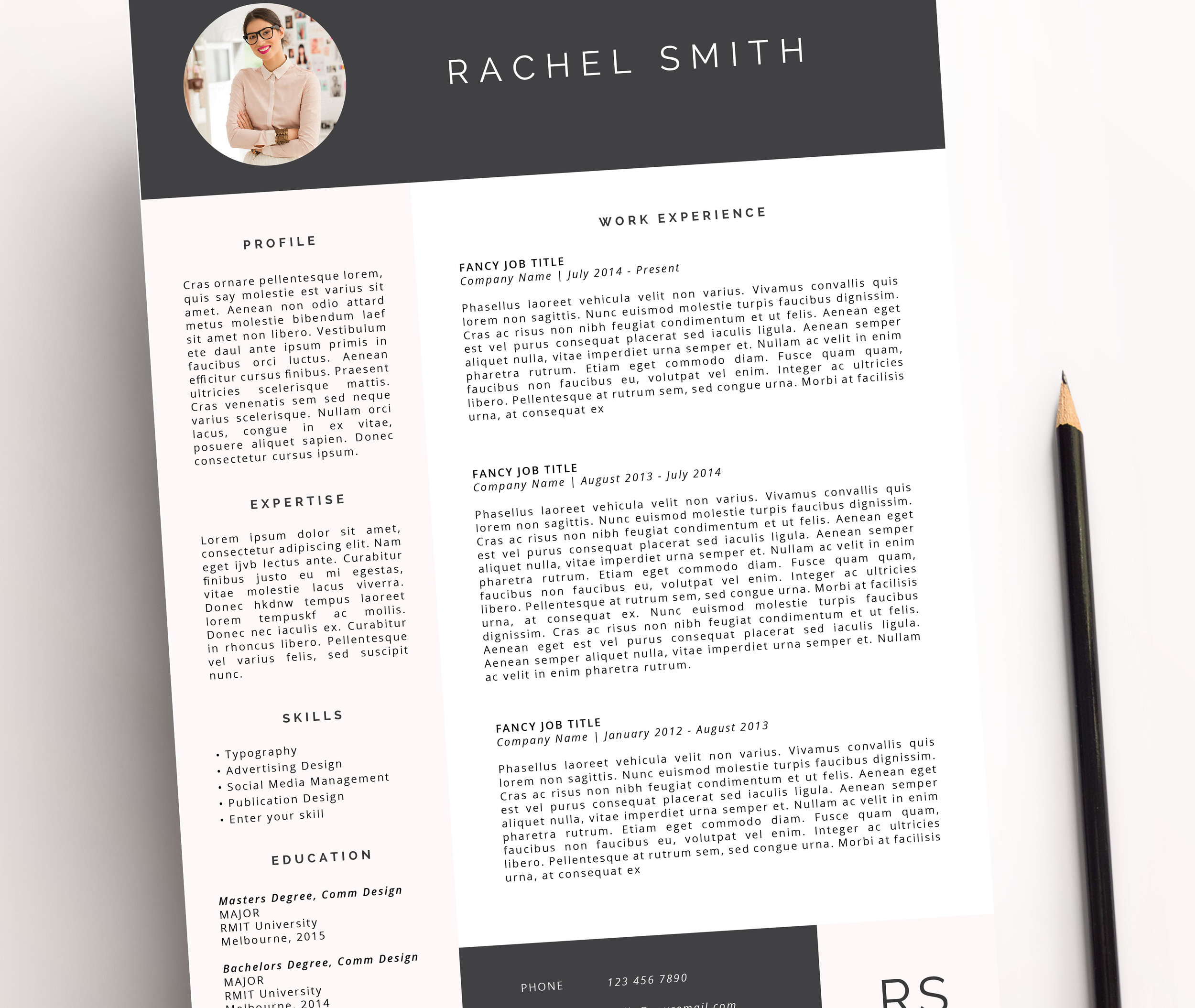 Miss Poppy Design | Resume Template | Word | Creative Resume