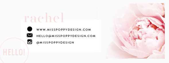 miss poppy design email signature
