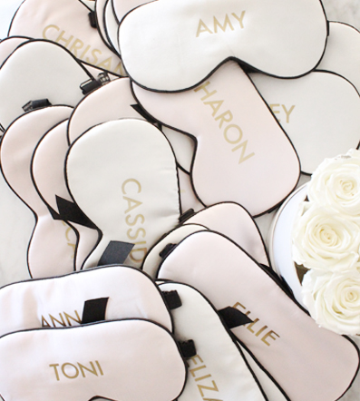 Silk Eye Masks - Our luxe silk eye masks come personalised & make a great gift