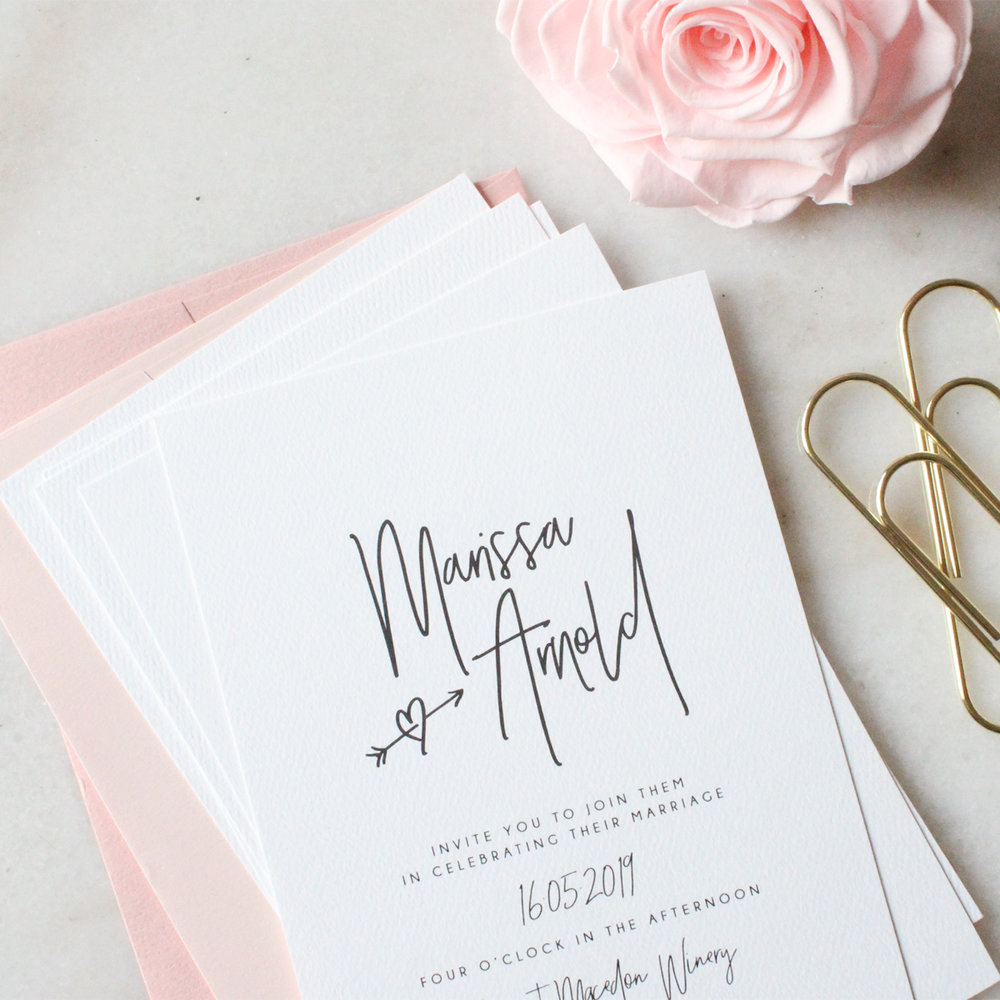 Wedding Stationery - Our wedding invitations are designed for the modern bride and come fully personalised.