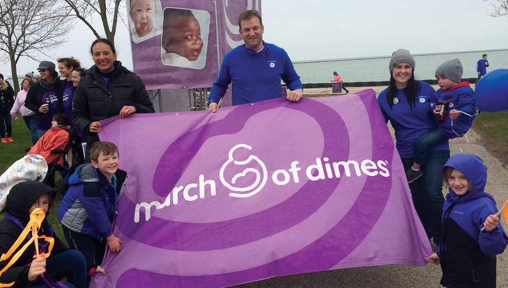 More than 500 people were part of the GE Healthcare team during the March of Dimes March for Babies in Milwaukee.