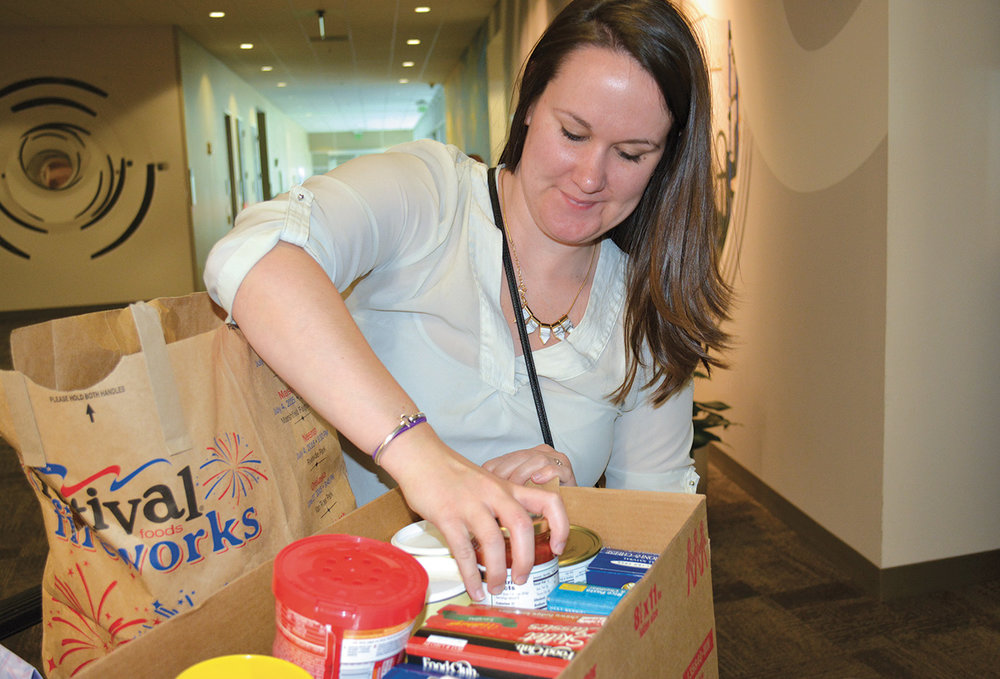 Employees donated more than 3,500 pounds of non-perishable food items and $900 to help feed people in the community. The Hunger Task Force and Milwaukee LGBT Community Center food bank shared in the  GE Feeds food drive.
