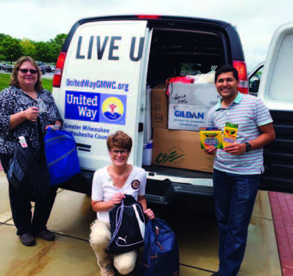 More than 1,000 backpacks filled with school supplies were contributed to the United Way's Backpack Coalition and distributed in Milwaukee and Waukesha counties.