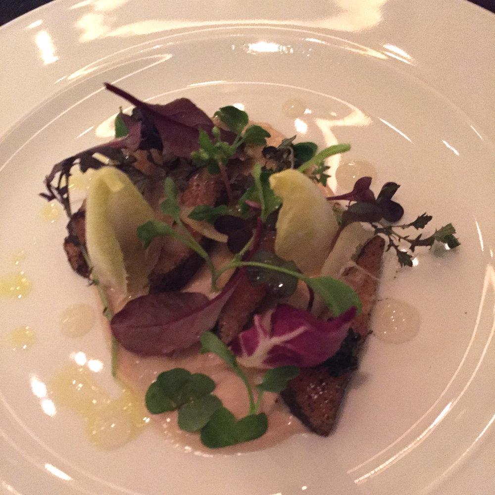 Earl Grey Tea cured Salmon (c.1730)Lemon salad, gentleman's relish, wood sorrel & Exmoor caviar