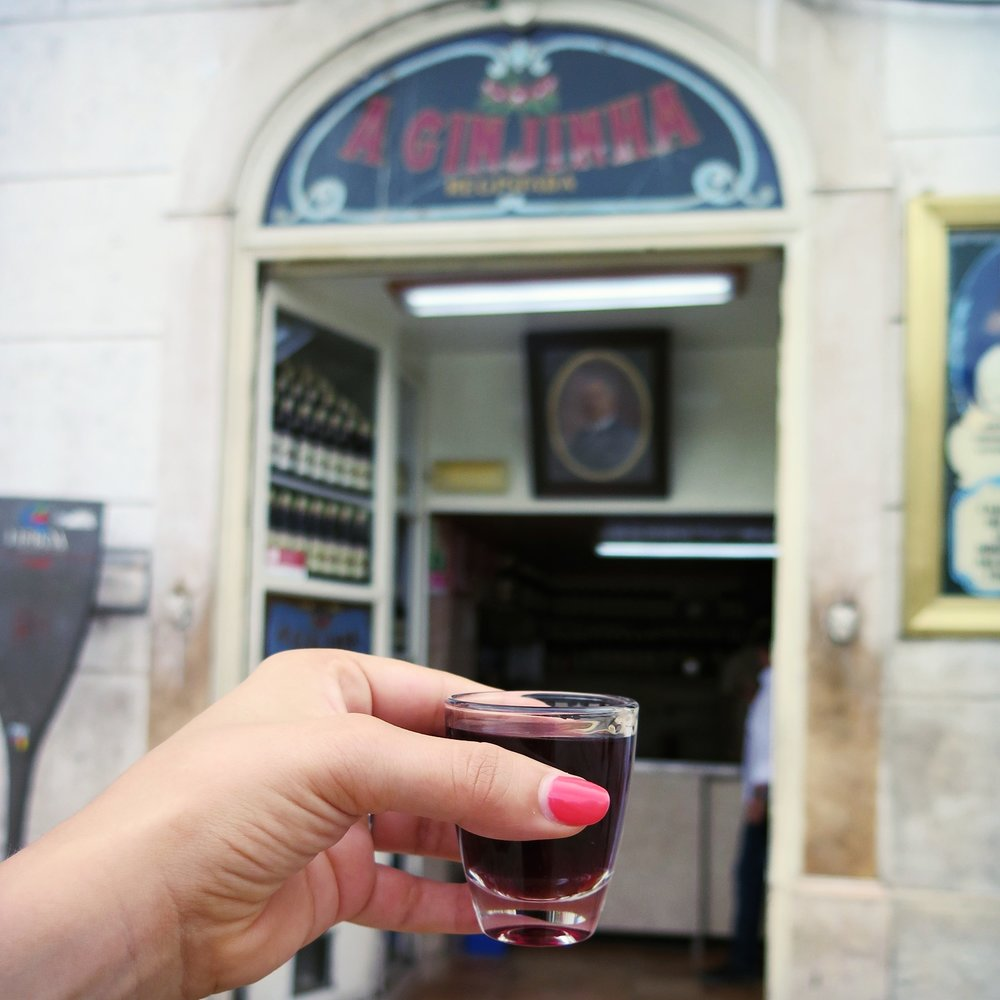 The ginjinha, Lisbon pick-me-up drink