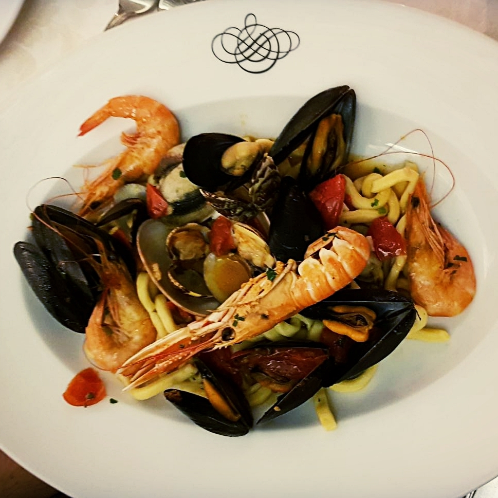Seafood pasta from Vittoria