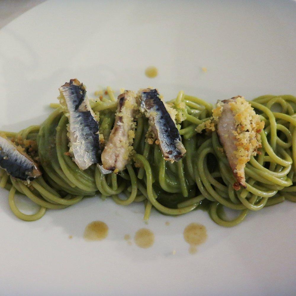Spaghetti con le sarde, to DIE for