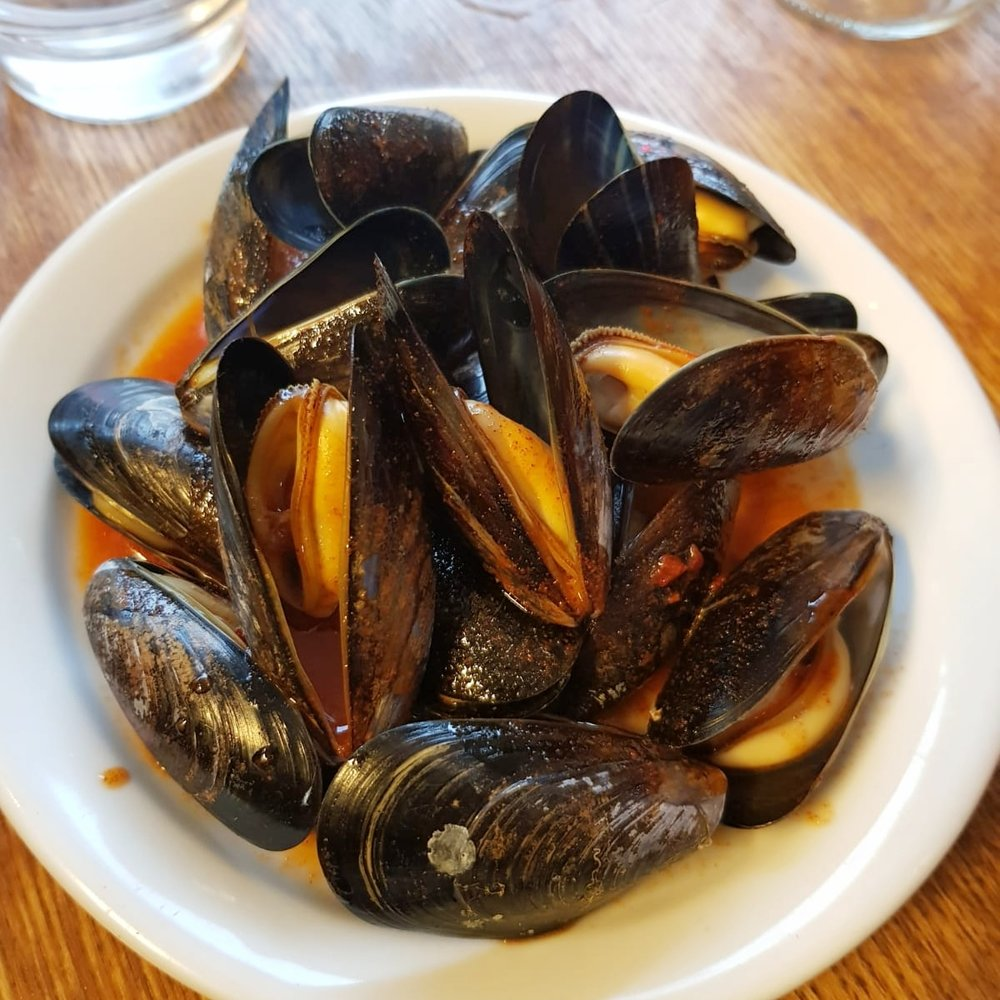 Mussels, smoked paprika and vinaigrette