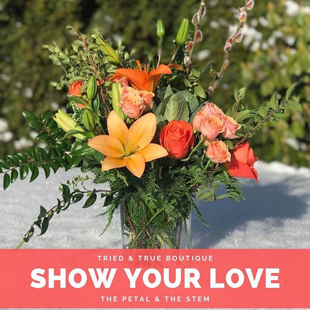 We've seen a lot of threads on showing your #love for #local businesses after #snowmageddon2019 .  Well, we're here to help!  Tried & True has partnered with The Petal and the Stem to bring you some lovely #valentinesday arrangements to purchase, right in our store!  We also have gifts, cards and more for your #sweetie .  Stop in today & tomorrow for this very special pop-up shop!