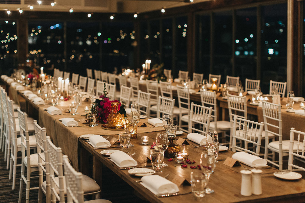 Bohemian wedding reception table setting sydney