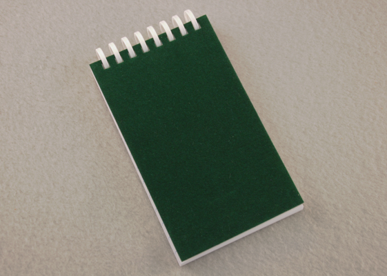 "Others will be green with envy when they see your green velvet covered 3"" x 5"" pocket journal!"
