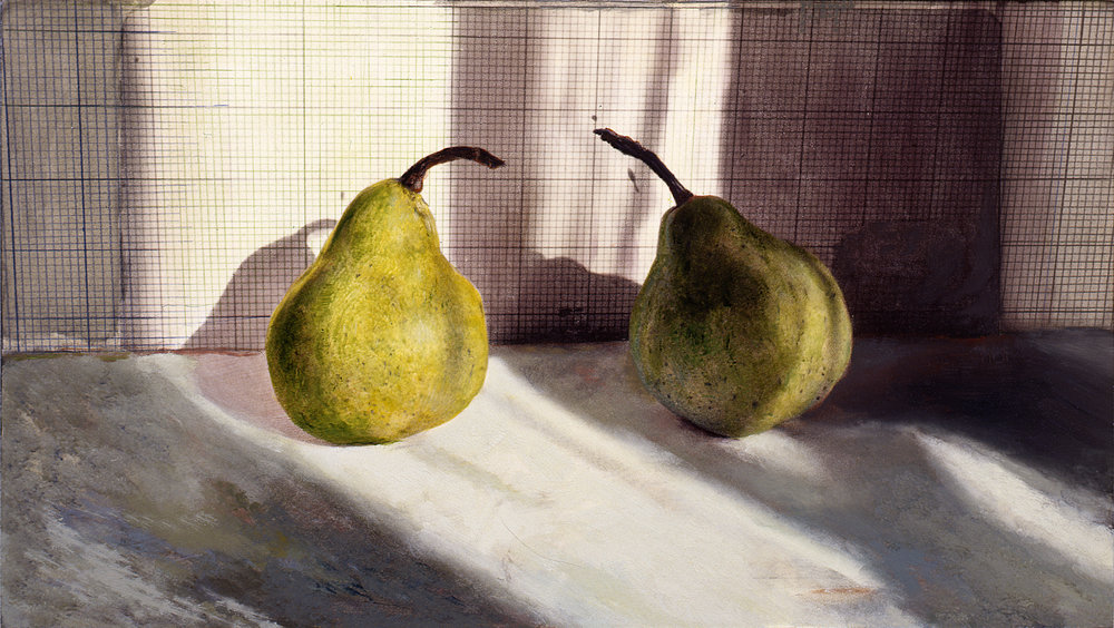 Window Shadows with Two Pears