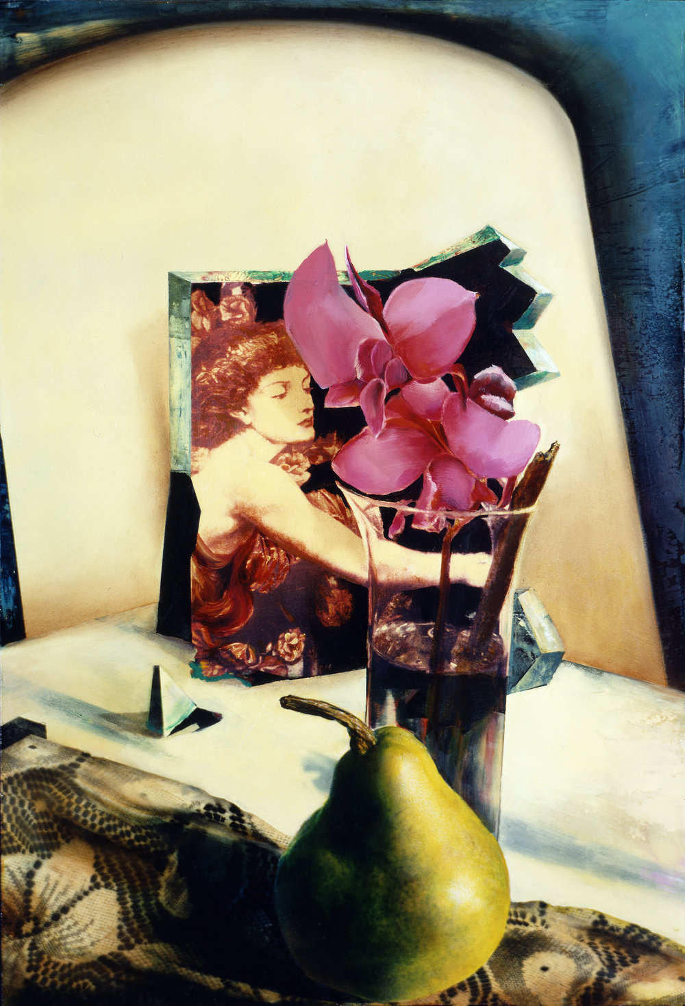 Golden Pear, Magenta Orchid