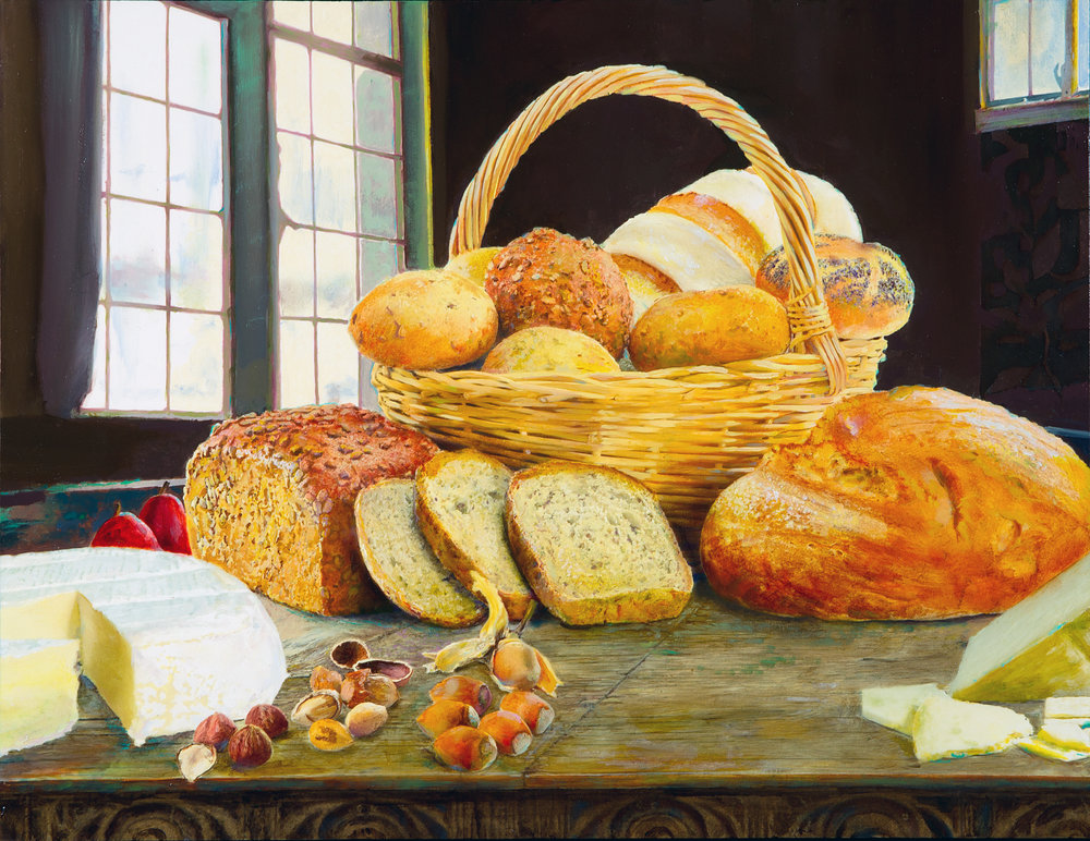 Still Life with Basket of Bread