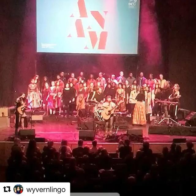 Last Wednesday had the absolute pleasure of playing with two of the best, hard working and most talented bands in Ireland.  Thanks to Wyvern Lingo and Discovery Gospel Choir for letting me play with you!  I'm still singing I Love You Sadie every morning! 😃  #Repost @wyvernlingo with @get_repost ・・・ PURE MAGIC💫💫💫🔥🔥🔥 Was so humbling to perform with these choirs! Thank you! You brought such new and exciting life to the songs - could have played the whole set with ye 😩Thanks to @othervoiceslive for having us finish off an amazing night of music❤️ #anam18