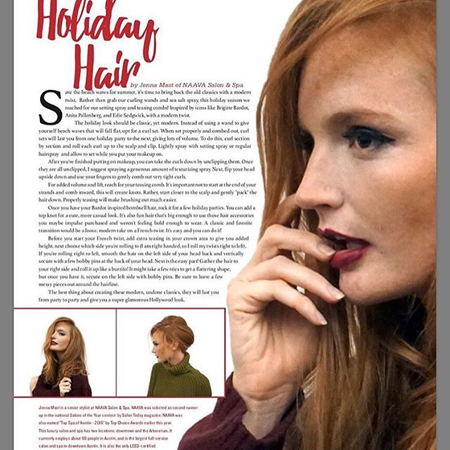 Get your hair holiday ready! ❤️Special thanks to @jenna.mast, @mikel83 and @texaslifestylemagazine #holidayhairstyles #holidayhair #partyhairandmakeup #atxholiday
