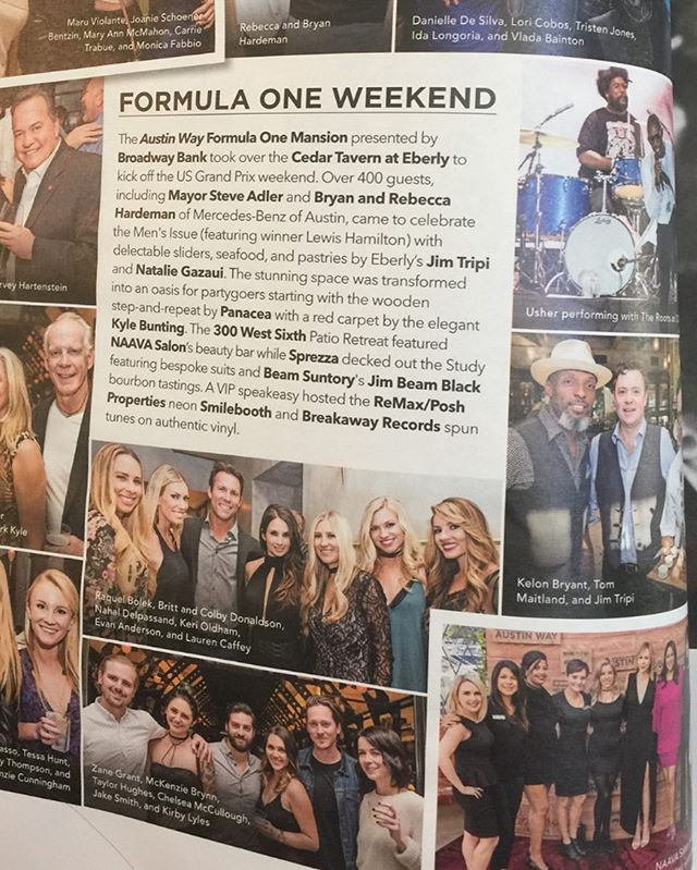 Our NAAVA team (bottom right) sure loved doing hair, makeup, massages, and nails for guests at the @austinwaymag Formula 1 party at the uber fabulous @eberlyatx ! Such a fun evening!! ❤️💃#formula1 #formula1racing #texasparty