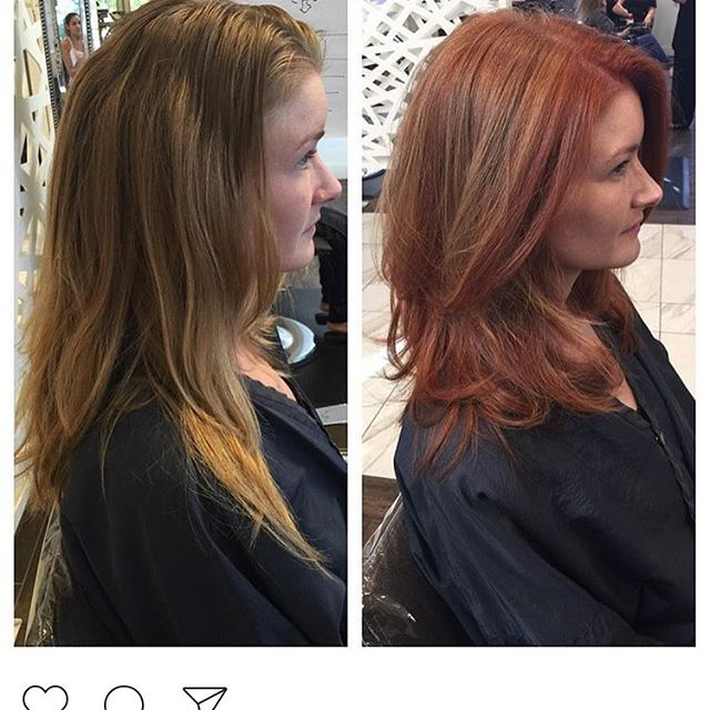 A little fall inspiration by the talented Candis at our Arboretum location. #fallhaircolor #atxsalon #atxhair #redhair❤️